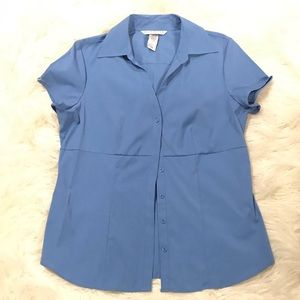 Fred David stretch button up blouse